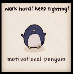 I love the motivational penguin!