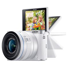 NX3000 Interchangeable Lens Camera + 20-50mm Power Zoom Lens and Flash (White)