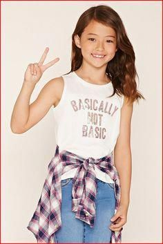 Pin by julieth alu on moda in 2019 girl fashion, forever 21 outfits, pretee Cute Girl Outfits, Kids Outfits Girls, Cute Outfits For Kids, Fall Outfits, Fashion Outfits, Tween Girls, Forever 21 Outfits, Forever 21 Girls, Preteen Fashion
