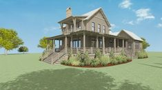 Walnut Cottage — Lake & Land Studio Southern Living House Plans, New House Plans, Home Reno, Open Concept, Master Suite, Cottage, Exterior, Mansions, Studio