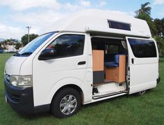 High top campervan outside view