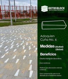 #adoquin cuña N.6 producto especial para obras decorativas, ideal resistencia, diseño único vanguardista. Material exclusivo de Metroblock S.A.S