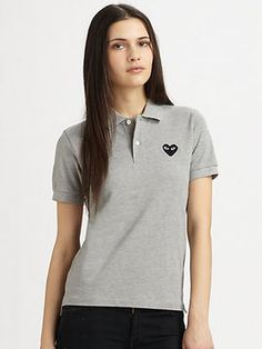 Comme des Garcons Play Cotton Pique Polo on shopstyle.com