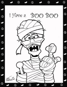Coloring pages for you to enjoy for Halloween Free Halloween Coloring Pages, Fall Coloring Pages, Adult Coloring Pages, Coloring Pages For Kids, Coloring Books, Free Coloring, Theme Halloween, Halloween Cards, Fall Halloween