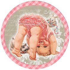Charlotte Becker ' children ' modern Rare new postcard Vintage Greeting Cards, Vintage Postcards, Clipart Vintage, Vintage Pictures, Vintage Images, Free Printable Cards, Printables, Baby Illustration, Baby Images