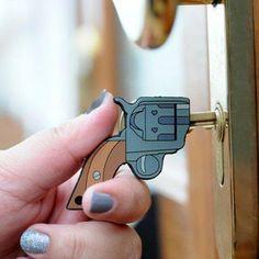 Pistol Shaped Key Covers http://www.lovedesigncreate.com/pistol-shaped-key-covers/