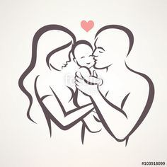 "Download the royalty-free vector ""happy family stylized vector symbol, young parents and baby"" designed by lapencia at the lowest price on Fotolia.com. Browse our cheap image bank online to find the perfect stock vector for your marketing projects!"