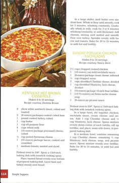 Kentucky Hot Brown casserole- yummy and fattening!