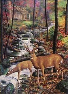 art of randy mcgovern | Artist Randy McGovern - Wildlife Art Prints featuring Deer (2/4)