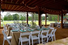 Beautiful Outdoors set up at Haras Hacienda Terrace!