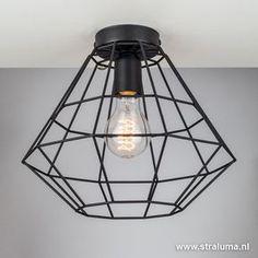 Draad plafondlamp zwart hal, wc, keuken - www.straluma.nl Halle, Modern Toilet, Moraira, Bedroom Lamps, Amazing Bathrooms, Home Lighting, Cozy House, Home Deco, Decoration