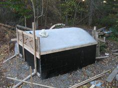 The oil drum root cellar