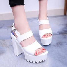 This+is+a+high+quality+shoes.+It+will+be+packaged+well+and+sent+to+you+safe+and+fast. Materials:+PU Detailed+Measurements: Size+measurements+are+in+(cm) ♥♥+Please+pay+attention+to+the+item+sizes+and+measurements+before+buying.All+our+shoes+are+ma. High Shoes, Platform High Heels, High Heel Pumps, Pumps Heels, Chunky Shoes, Clearance Shoes, Womens High Heels, Heeled Boots, Heeled Sandals