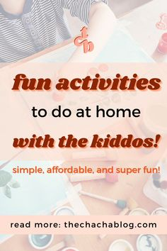 We're still at home and still needing things to do with our kids! Here are 7 super easy and fun activities to keep them occupied! Kids activities, kids activities at home, kids playroom, kids… More