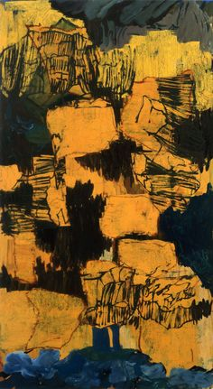 """Per Kirkeby, """"Untitled"""", 1997 Oil on canvas 78 3/4 x 43 1/4 inches 200 x 110 cm"""
