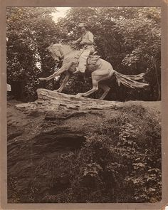 The Cowboy by Frederic Remington, 1907, Fairmount Park, Philadelphia, PA.  This Remington's only monumental work, and his only commissioned bronze.  It's site-specific, created for the bluff on which it stands. Roman Bronze Works, NY. Pennsylvania Dutch Country, Delaware Valley, Frederic Remington, Mediums Of Art, Le Far West, Philadelphia Pa, Old West, Western Art, Famous Artists