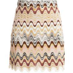 MISSONI Swirl Mini Skirt ($703) ❤ liked on Polyvore