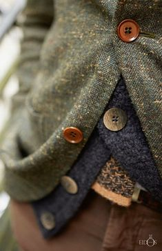 Buttons and layering | Knits and Tweed ~ Glen Allsop