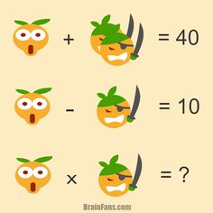 Brain teaser - Number And Math Puzzle - math question - There are shocked smiley and pirate smiley, both represent a number. Can you find those numbers? Maths Puzzles, Math Worksheets, Math Resources, Logic Math, Math Problem Solving, Best Brain Teasers, School Quiz, Math Talk, Math Challenge
