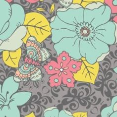 Camelot Cottons House Designer - Penelope - Aphrodites Garden in Gray