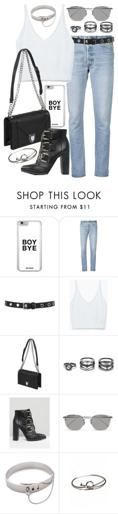 """""""Untitled #20133"""" by florencia95 ❤ liked on Polyvore featuring RE/DONE, Miss Selfridge, Zara, LULUS, ASOS, Linda Farrow and Eddie Borgo"""