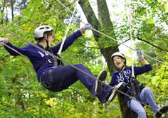 Ziplining in Southern Indiana