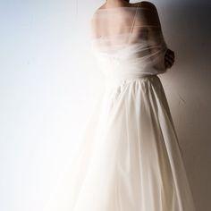 Tulle wrap Tulle stole Wedding wrap white shrug by larimeloom