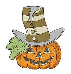 Halloween pumpkin 3 machine embroidery design. Machine embroidery design. www.embroideres.com