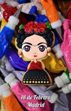 Luau Cookies, Birthday Cookies, Cupcake Cookies, Frida Kahlo Birthday, Cute Clay, Mexican Party, Halloween Cookies, Spa Party, Royal Icing Cookies