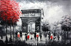 How Oil Painting Oil Painting On Canvas, Canvas Wall Art, Cheap Paintings, Oil Paintings, Canvas Online, Online Painting, Paris Street, Louvre, Sky
