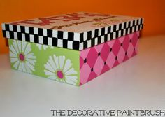 Painted Storage Box Painted Box by TheDecorativeBrush on Etsy
