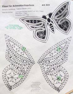 Bobbin Lace, Pattern, Bobbin Lacemaking, Butterflies, Animaux, Patterns, Model, Swatch