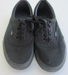 Buy this one and save a lot!1 Used Pair of Black Van Shoes in Men 8.5 M Women 10 M need sewing repair  #VANS #Vans