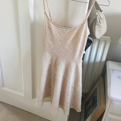 bf4775686a09b H&M fitted ballet skater dress in nude or peach coloured UK - Depop - 6