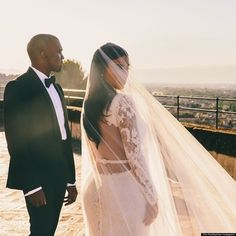 New Kim Kardashian, Kanye West Wedding Portrait Revealed On Instagram