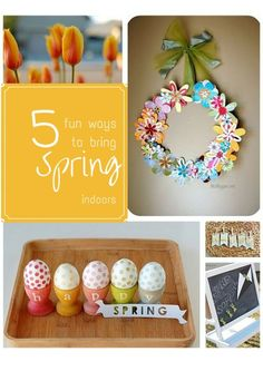 5 fun ways to bring spring indoors. Cute home decor ideas for spring and Easter!
