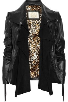 Sara Berman - convertible leather and suede jacket .super.