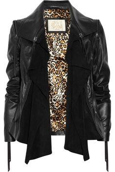Sara Berman Black Leather Convertible Jacket/Vest ($335 at Outnet)