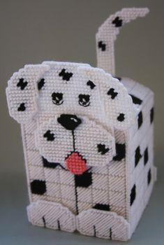 Plastic Canvas Tissue Holder Patterns | Dalmatian Tissue Topper-Plastic canvas Plastic-Canvas-Kits.Com