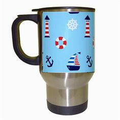 Sailing The Bay Travel Mug (White)