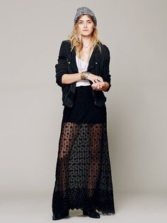 Free People Stevie Sheer Lace Maxi, $128.00