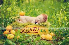 Lemon Baby by Jodie Goodison Photography, newborn, creative newborn photography, summer photos