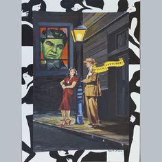 Scarlet Street (Broken Windows series) 2014 cm 35x25 #inkonpaper #acryliconpaper #pencilonpaper #drawing #postermovie #workonpaper #illustration #monacoart #figurativeart #workonpaper #brokenwindows #paperpaint #paperart #detournement