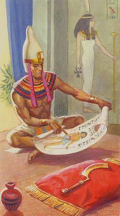 Le roi d'épées - Ramsès : Tarot de l'éternité par Severino Baraldi