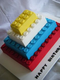 Hmmm this might be a good Lego cake...stack the blocks on top of each other !