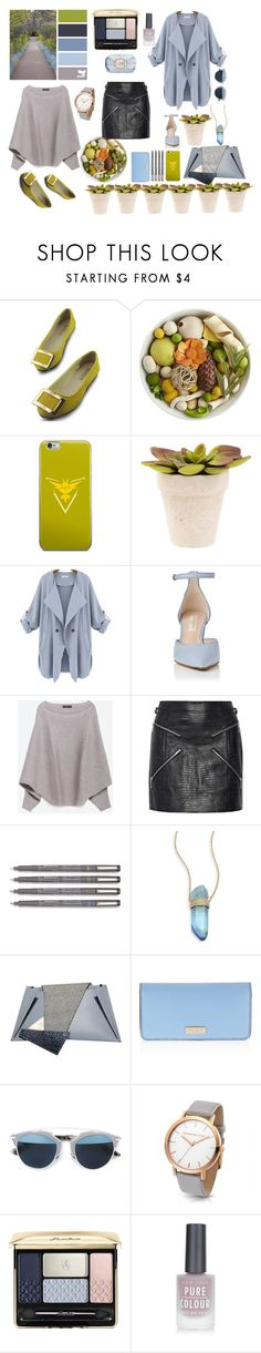 """No name #4"" by annamedvedeva ❤ liked on Polyvore featuring Pier 1 Imports, Valor, Zara, Alexander Wang, Jacquie Aiche, Georgina Skalidi, Henri Bendel, Christian Dior, Guerlain and New Look"