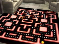 "5 Video Game Rugs To Dress Up Your Game Room - omg im putting shit like this in my ""woman cave"" Nerd Room, Nerd Cave, Gamer Room, My Room, Man Cave, Room Ideias, Deco Gamer, Geek Mode, Deco Retro"