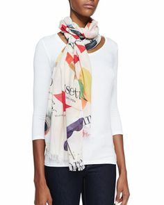 italian+flash+card+scarf+by+kate+spade+new+york+at+Neiman+Marcus.