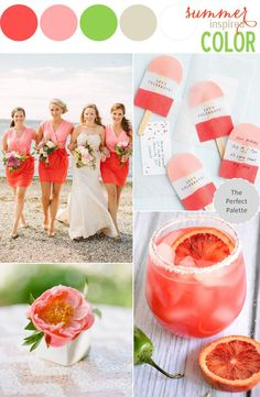 Summer Inspired Color http://www.theperfectpalette.com/2014/07/summer-inspired-color-coral-two-tone.html