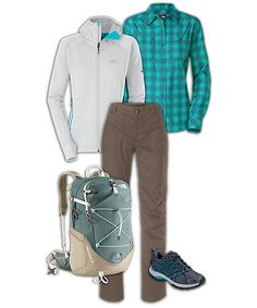 Cute winter outfit. I wish I could find a really cute summer one.  Not the backpack, tho